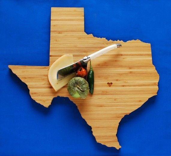 Texas State Cutting Board. WANT!!