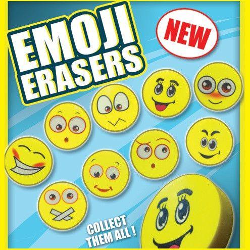 """Emoji Erasers 1"""" Capsules"""