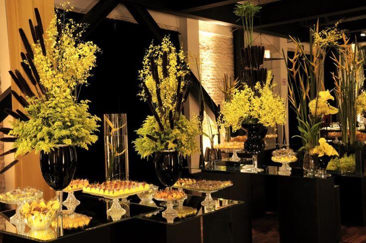 Amarelo e preto para a decoração do seu casamento
