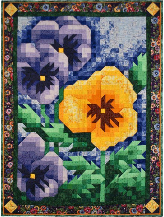 Quilt Pattern - Pansy Mosaic Quilt Pattern  http://www.etsy.com/listing/84108028/quilt-pattern-pansy-mosaic-quilt-pattern