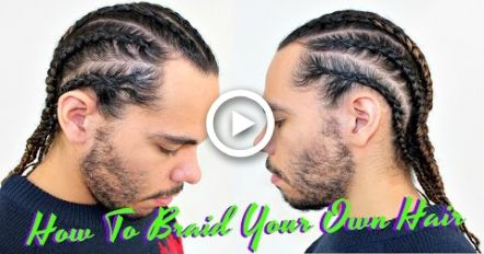 Tutorial How To Braid / Cornrow Your Own Hair / Protective Style For Curly Hair / Men