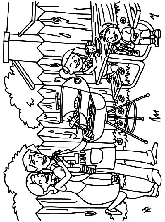 Coloring pages to make father's Day cards Free online