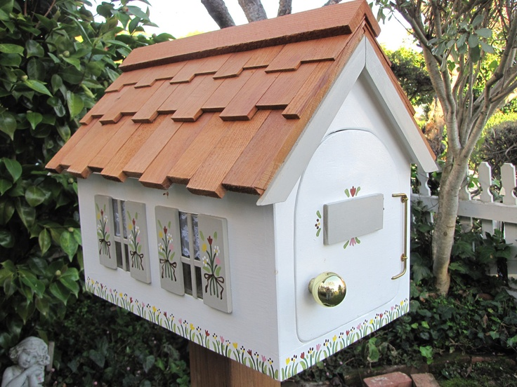 Cottage Mailbox By Mailmansions Reserved For Marion Grey