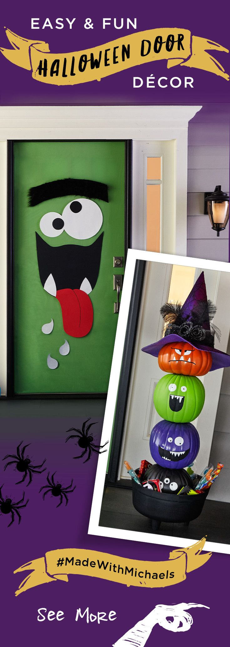 Best 266 Pumpkin and Halloween Ideas images on Pinterest Male - Halloween Classroom Door Decorations
