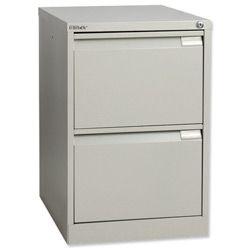 Product 070412, Description: Bisley BS2E Filing Cabinet 2-Drawer H711mm Goose Grey Ref BS2E-73