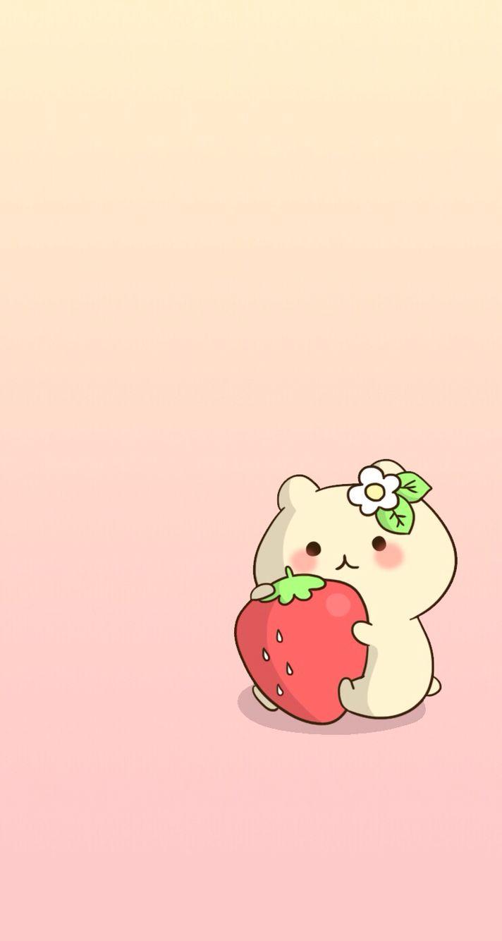 Cute Pink Ombre Kawaii IPhone Wallpaper