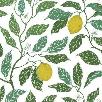 Maria+Åströms+klassiska+mönster+Citrus+Limon+är+inspirerat+av+naturens+färg+och+form+och+är+handtryckt+av+det+Svenska+företaget+Ljungbergs+Factory.+Vaxduken+är+ypperlig+för+sommarens+alla+fester+eftersom+den+är+akrylbestruken+och+lätt+att+torka+av.
