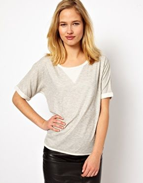 Selected+Memo+Tee+in+Double+Faced+Jersey asos $20