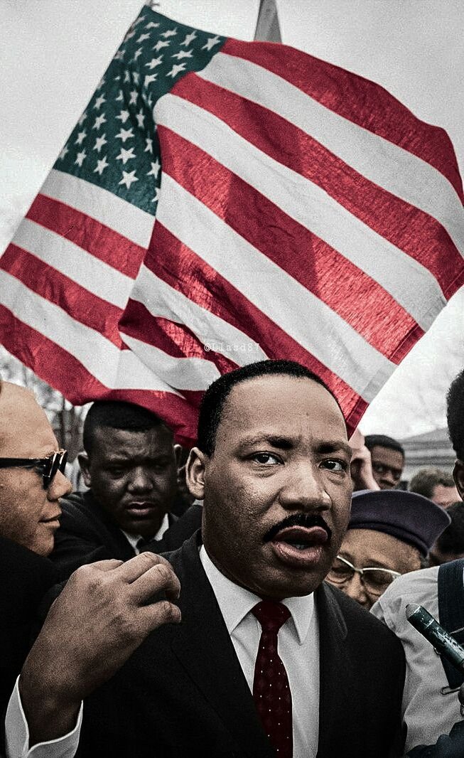 Dr. Martin Luther King on his march from Selma to Montgomery 1965.