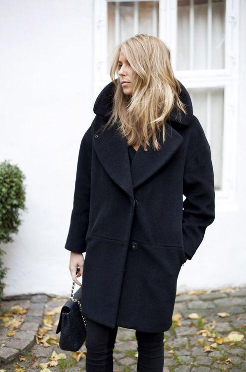 {Black coat.}