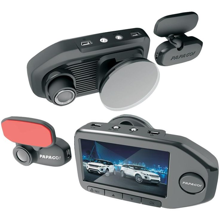 Papago GS76032G GoSafe 760 Full HD Dual-Camera Dash Cam with 2.7 Screen