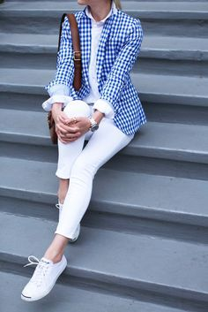 New England Classic Style | gingham blazer