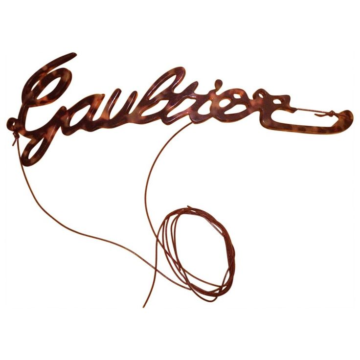 brown Leather JEAN PAUL GAULTIER Belt - Vestiaire Collective