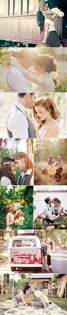 26 Beautiful Vintage-Inspired Engagement Photos