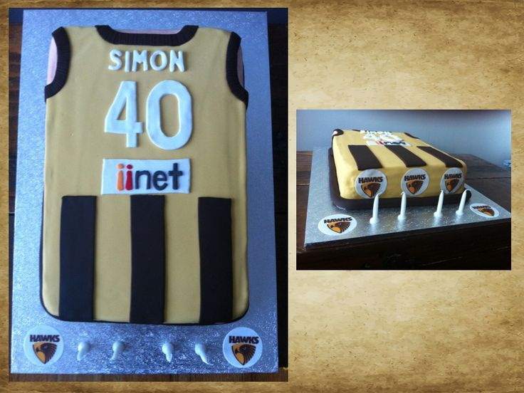 AFL Hawthorn jumper cake, hawks