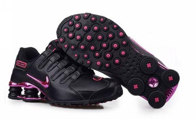 Kvinna Nike Shox NZ Skor Svart Rosa 33521 Rea