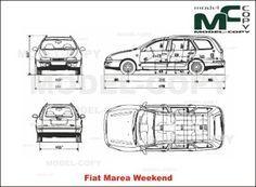 Fiat Marea Weekend - desenho