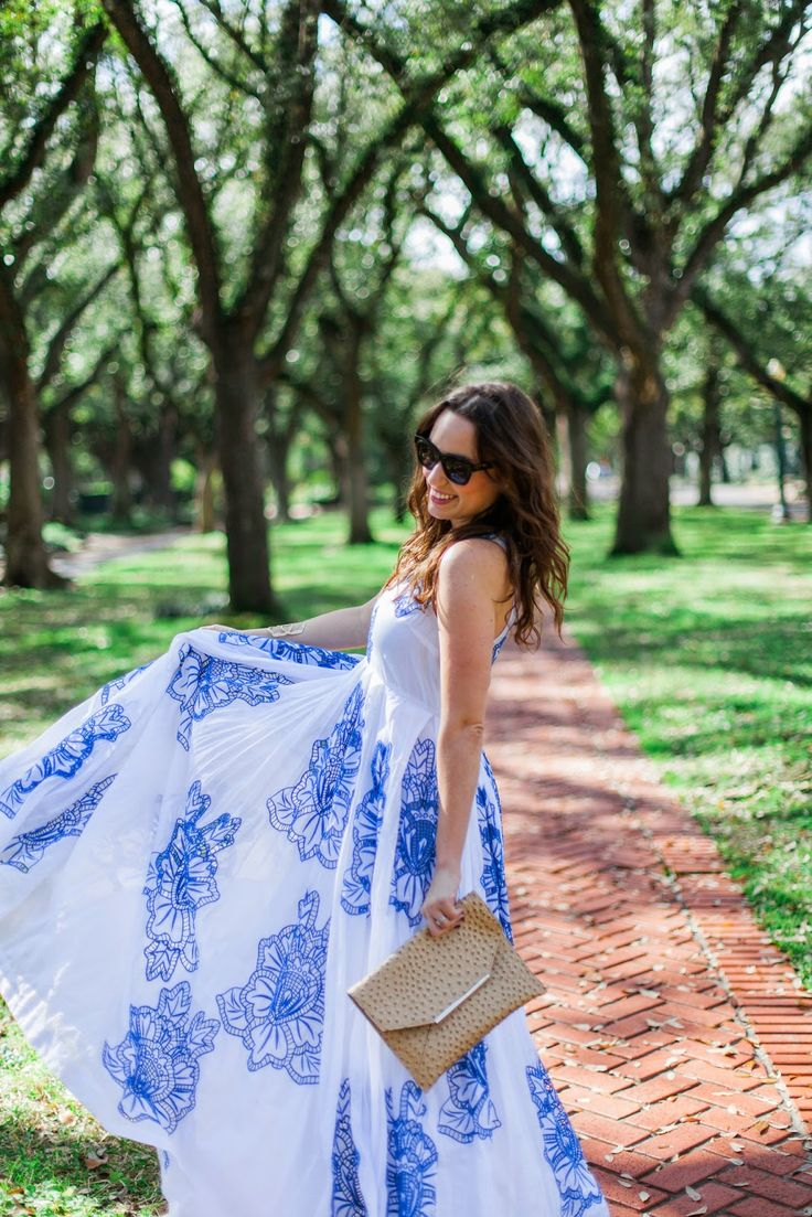 Blue and White Maxi Dress // Summer Style #AnthroFave