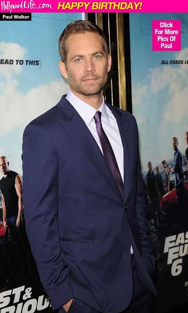 Paul Walker: Remembering The Actor On What Would've Been His 42nd Birthday 9/12