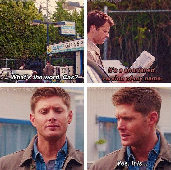 THIS . Ah Cas, always so literal. #Supernatural #Castiel #DeanWinchester