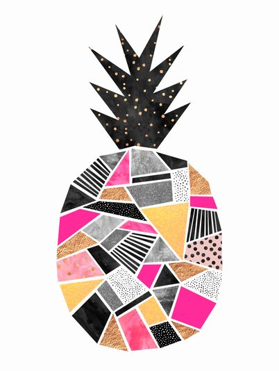 PRETTY PINK PINEAPPLE » Geométricos