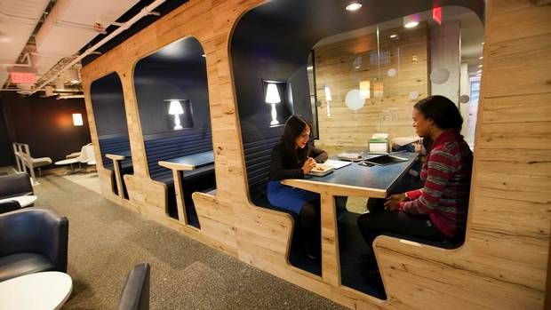 26 best new high school images on pinterest for Well designed office spaces