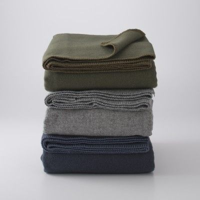 100% wool, washable and made by a family-owned American company. Can't get any better than that! Utility Service Blanket | Blankets + Throws | Bed+Bath