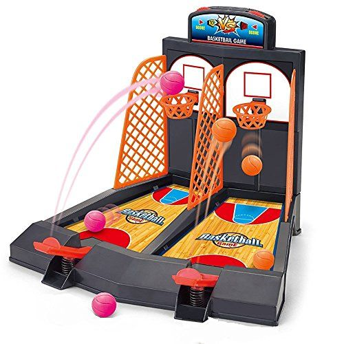 KidsHobby® Double finger hand eye brain coordination of children's basketball shooting game toy gifts early desktop