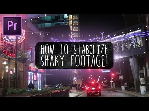 How to Fix Shaky Video in Premiere Pro with Warp Stabilizer (Adobe CC 2017 Tutorial) - YouTube