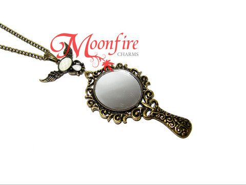 Found this site and as a geek fell in love .  Once Upon A Time Magic Mirror pendant necklace from Moonfirecharms