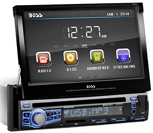 Special Offers - BOSS AUDIO BV9976B Single-DIN 7 inch Motorized Touchscreen DVD Player Receiver Bluetooth Wireless Remote - In stock & Free Shipping. You can save more money! Check It (July 31 2016 at 12:04AM) >> http://wbluetoothspeaker.net/boss-audio-bv9976b-single-din-7-inch-motorized-touchscreen-dvd-player-receiver-bluetooth-wireless-remote/