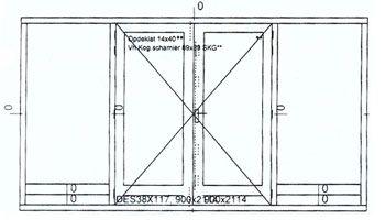 Dubbele deurkozijnen: houten kozijnen