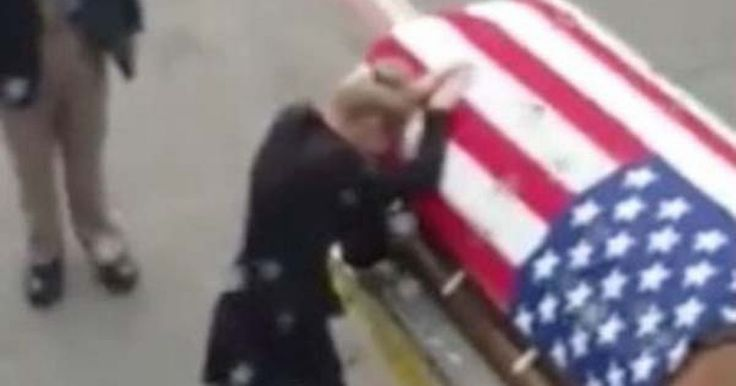 A heartbreaking reunion: Young widow meets Army husband's coffin on airport tarmac after he died serving abroad - Mirror Online