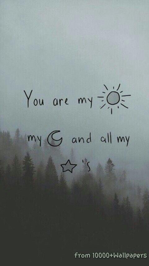 tu eres mi sol mi luna y todas mis estrellas