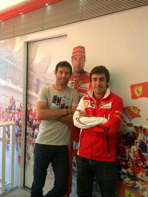 Mark Webber and Fernando Alonso