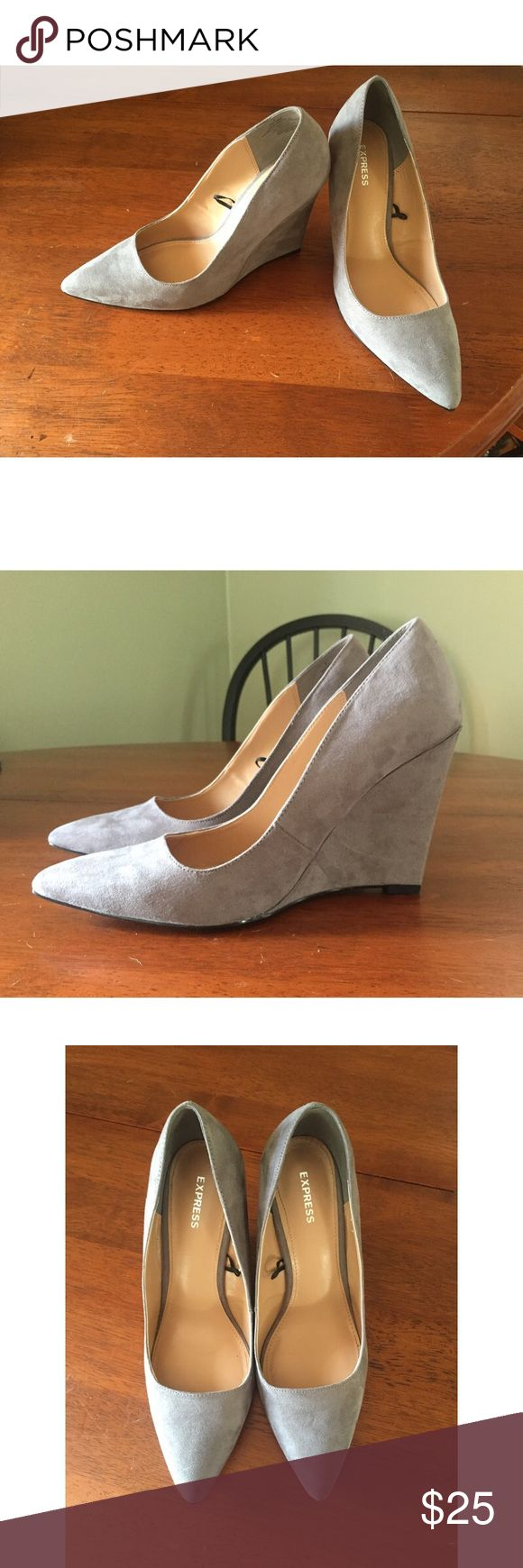 Express Pointed Wedges In great condition! Only worn twice. No damages or stains etc. Express Shoes Wedges