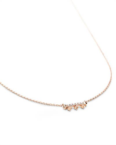 590faa3716943 Wave 14k Rose Gold Band Ring White Diamond - 7 | Kendra Scott ...