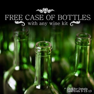 Homebrew Finds: Beer and Wine Hobby: Free Case of Bottles With Any Wine Kit