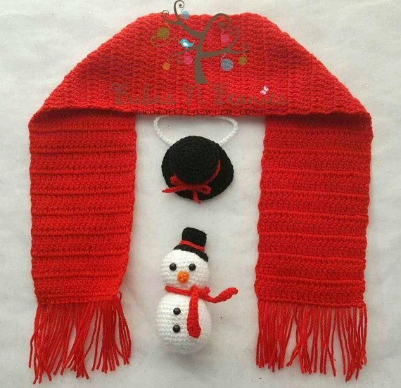 Check out this item in my Etsy shop https://www.etsy.com/au/listing/487512327/crochet-christmas-snowman-set-stuffie