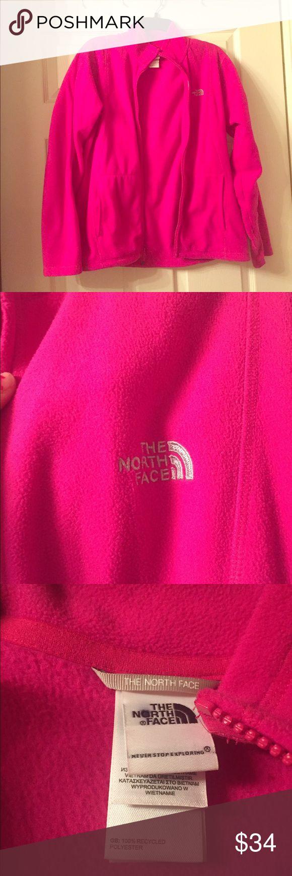North Face Zip up Hot Pink Zip Up North Face Jackets & Coats
