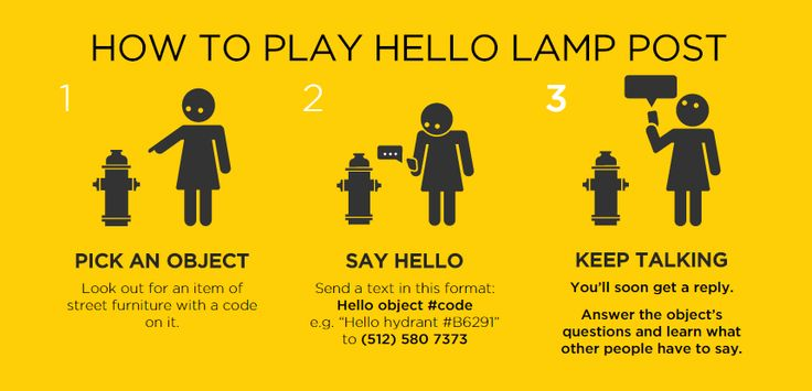 Hello Lamp Post is a new interactive art exhibit in Austin, Spring 2015