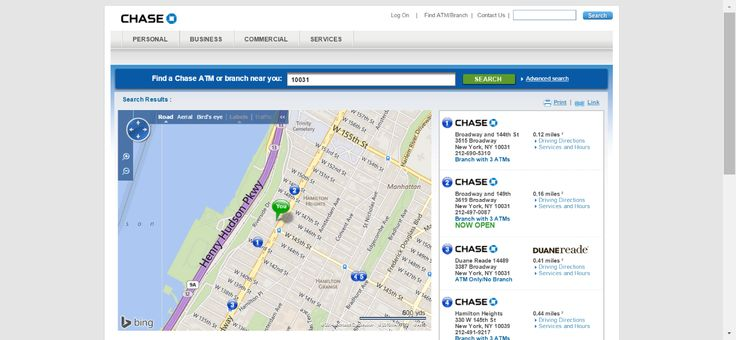 Find a CHASE Bank Branch or ATM near you