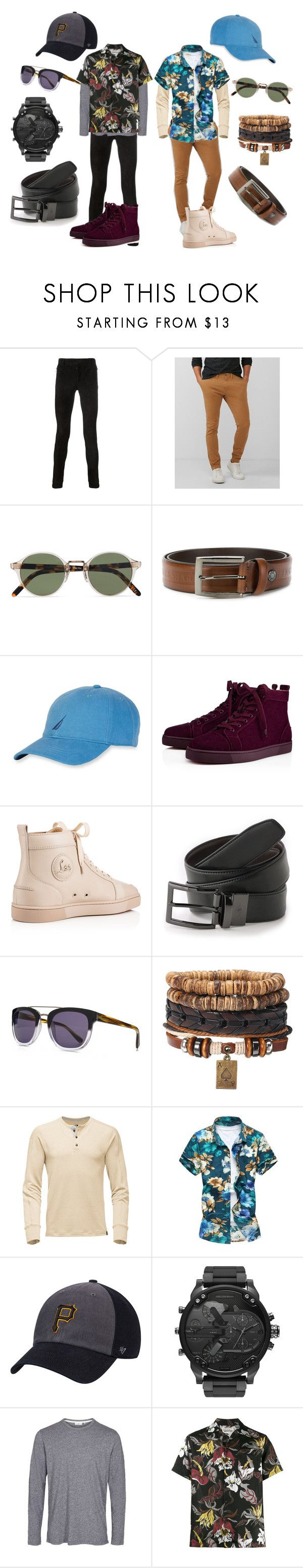 """Kai's Weekend Casual"" by lora-86 ❤ liked on Polyvore featuring Balmain, Express, Oliver Peoples, Paul & Shark, Nautica, Christian Louboutin, Dockers, French Connection, Wacko Maria and men's fashion"