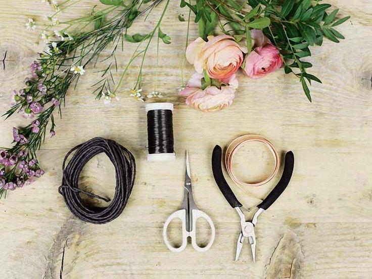 Tutoriel DIY: Faire une couronne de fleurs fine via DaWanda.com