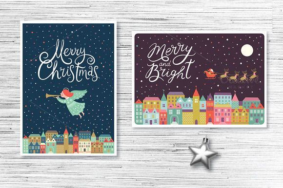 Christmas Cards by lenlis on @creativemarket