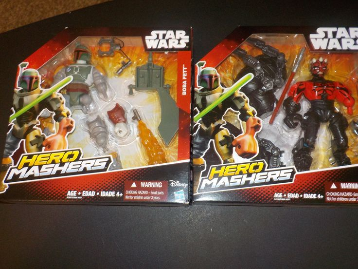 new set of 2 star wars hero mashers action figure toys...boba fett and darth maul payment is expected within 48 hours after auction ends #toys #fett #maul #figure #action #wars #hero #mashers #star