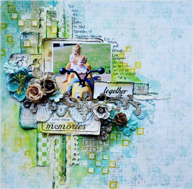 Scrapbooking Mixed Media Layout Tutorial - Once Upon A Sketch October Ch...