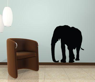 VÄGGDEKOR elefant siluhett