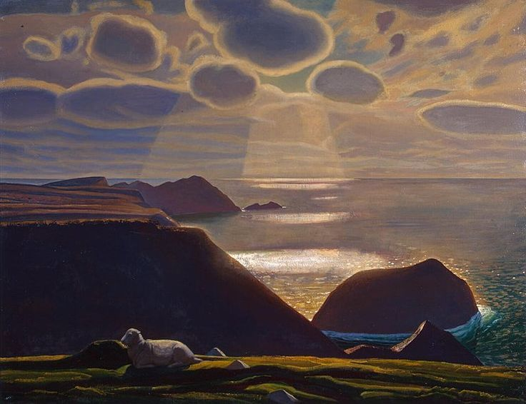 Sturrall. Donegal. Ireland   Rockwell Kent  Landscape, Painting, Oil on canvas