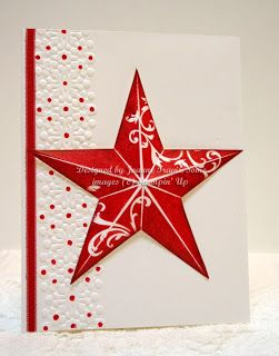 """Stunning Red And White """"Christmas Star"""" Card...Joanne Travis: Sleepy in Seattle."""